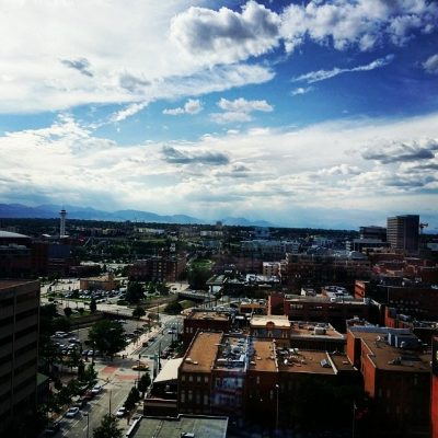 Now this is a change of #scenery! #view of downtown #Denver from my gorgeous room! Any recs for fun places to go/eat/shop?? #travel #lifestyle #adventure #weekend #blog #luxury