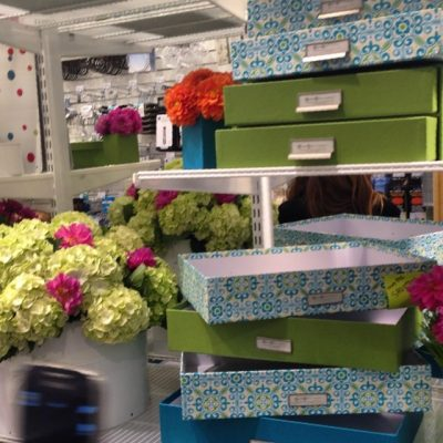 #fresh #flowers and #colorful organization….@thecontainerstore @thegrovela is looking good for its grand opening!! #LA #blog #home #decor #blogger #blog #inspired