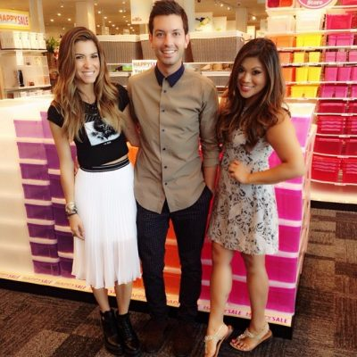 Pops of color at @thecontainerstore with @orlyshani and @danielmusto! #fashionfriends #hosts #stylist #LA #fashion #blog #bloggers #preview #shopping #ootd #whatiwore #summerstyle #chic