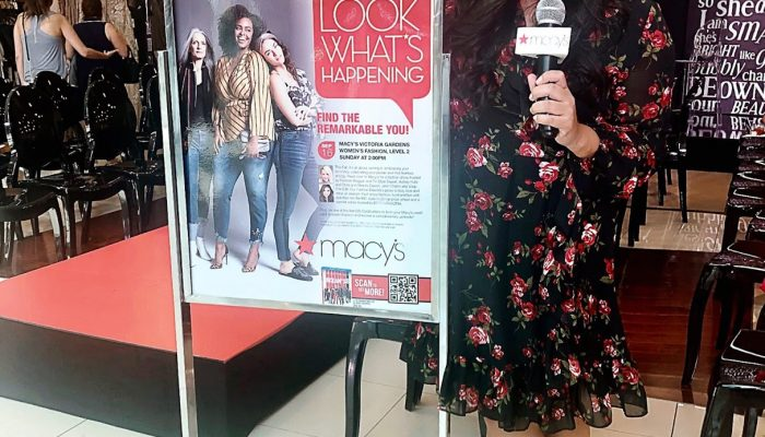 Hosting the Fall Fashion Show at Macy's Victoria Gardens